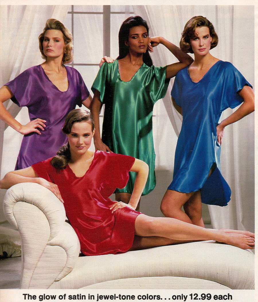2c847dd46d Frilly Nightgowns to Garfield Pajamas  1980s Women s Sleepwear Catalog Pages