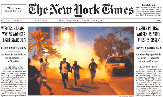 new york times front page archive. York Times money or regard