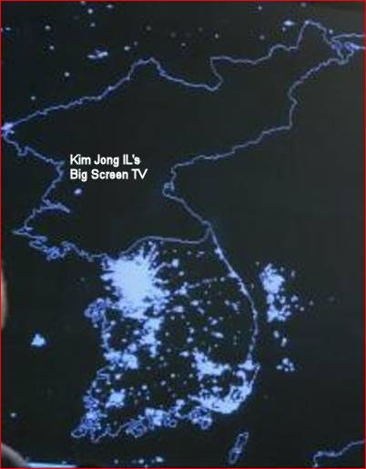 south korea north korea at night. South Korea Does Not
