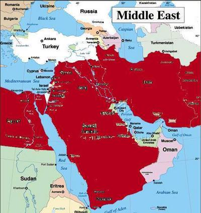 Awesome Map Of Us Allies In The Middle East Pics - Printable Map ...