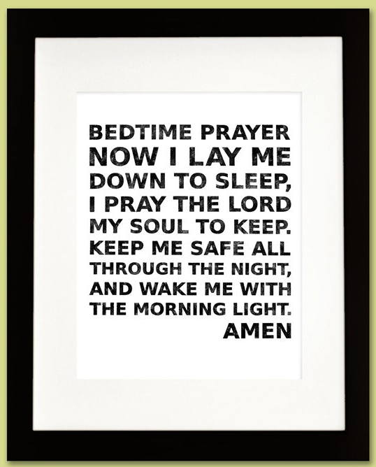 Sunday Sermonette: Now I Lay Me Down to Sleep @ AMERICAN ...