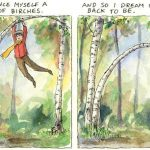 "Something Wonderful: Robert Frost's ""Birches"": A Visual Interpretation by Julian Peters"