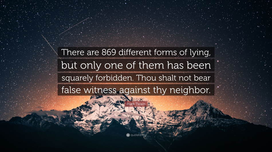 "Let's Review 125 : ""Thou shalt not bear false witness."""