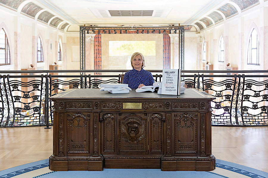 Crazy SplatLady Sits at Replica Resolute Desk. Retroactively Still Not President.