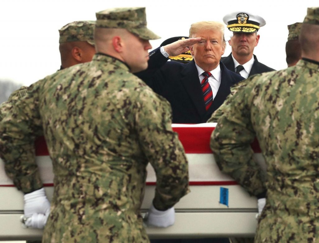 """Time to bring them home."" President Donald Trump and the Dead at Dover"