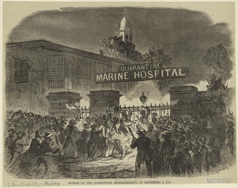 The Burning of the New York Marine Hospital
