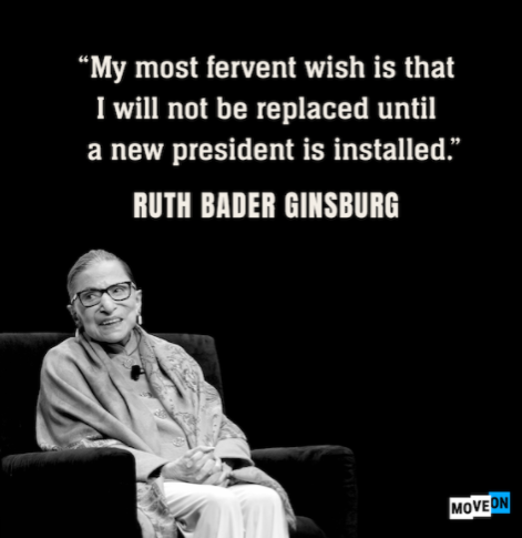 The Curious Death and Last Wish of Justice Ginsberg
