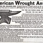 """On Old Anvils: """"The time has passed when we must go to England for our best anvils."""""""